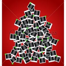 Quase usei esta ideia aqui em casa: uma árvore feita de fotos especiais do ano que passou! Como não achei nada parecido na web, fica uma imagem de referência, para tentar mostrar a ideia! Fonte: http://graphicleftovers.com/graphic/tree-made-polaroid-photos-14959/